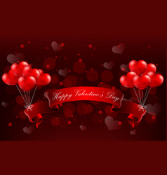 valentines day concept of heart with realistic re vector image