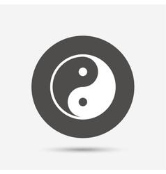 Ying yang sign icon Harmony and balance symbol vector image