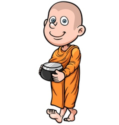 Young monk vector