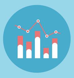 chart bar diagram icon sales data vector image vector image