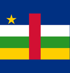 colored flag of the central african republic vector image