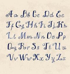 cute Handwritten watercolor letters vector image