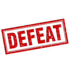 Defeat square stamp vector