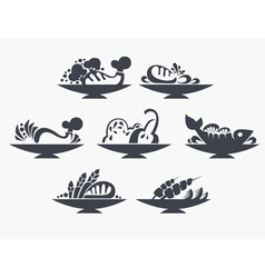 different food vector image