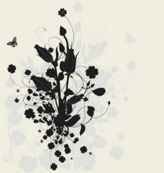 floral design with shadow vector image vector image