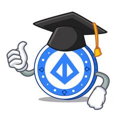 Graduation loopring coin character cartoon vector