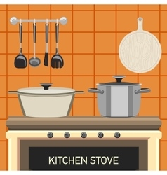 kitchen stove vector image vector image