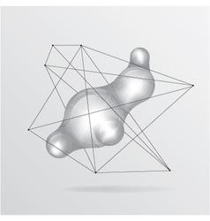 Metal liquid background vector image