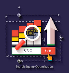 Seo search engine optimization programming process vector image vector image