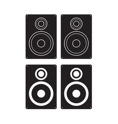 subwoofer icon loudspeaker box flat sign isolated vector image
