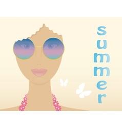 woman in summer vector image vector image