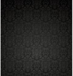 Black seamless pattern vector image