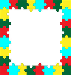 Frame puzzle template vector image