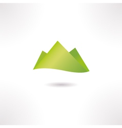 Green hills isolated on white vector image vector image