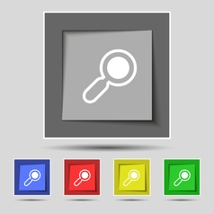 magnifying glass zoom icon sign on original five vector image