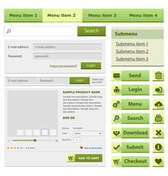 Online shop flat design elements set vector image vector image