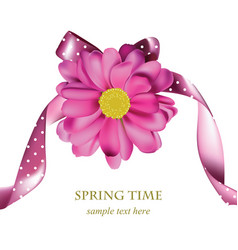 spring pink flower card background beautiful vector image vector image