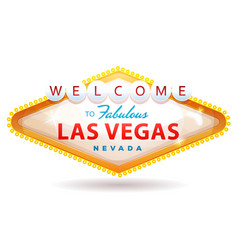 Welcome to fabulous las vegas sign vector