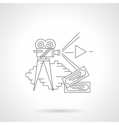 Cinema production detailed line icon vector image