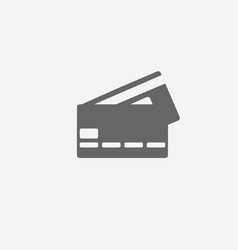 Credit bank card icon vector