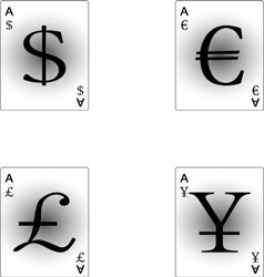 Four aces currency vector image