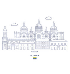 Guenca city skyline vector