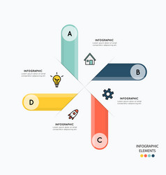 infographic and icons for business vector image vector image