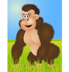king kong cartoon vector image