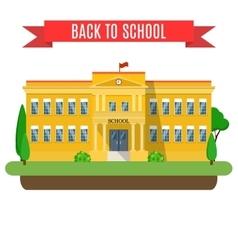 modern school building vector image vector image