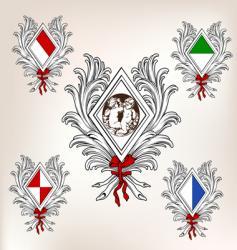 shields emblems vector image vector image