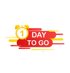 1 day to go in modern style special offer badge vector