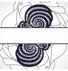 Abstract black frame vector image