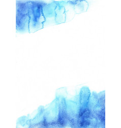 Abstract grunge blue watercolor background vector