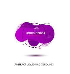 Abstract liquid purple color banner with line vector