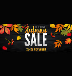advertising banner about autumn sale at end of vector image