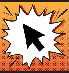arrow sign comics style icon vector image