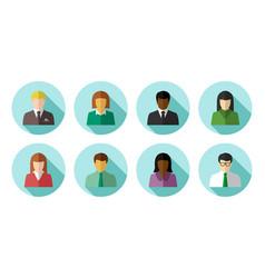 Avatar set business people vector