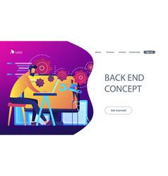 Back end development it concept vector