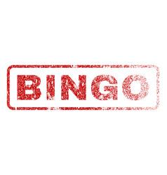 bingo rubber stamp vector image