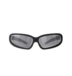 black sunglasses with gray lenses vector image