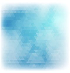 Blue abstract card geometric background vector image
