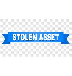 Blue tape with stolen asset title vector