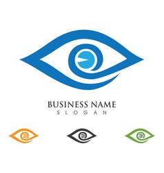 branding identity corporate eye care logo design vector image