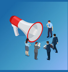 business people are waiting for announcement vector image