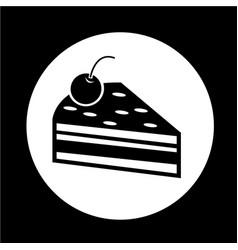 Cake piece icon vector