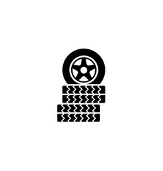 car tire flat icon vector image