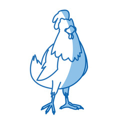 cartoon hen bird farm animal domestic image vector image