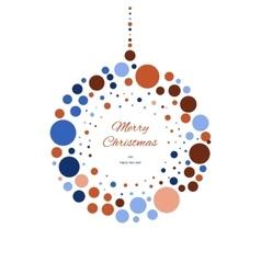 Christmas doodle ball for print web vector image