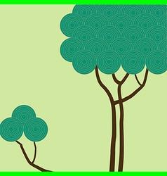 circle tree vector image