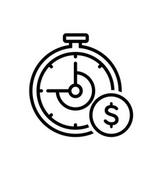 Clock with dollar sign vector